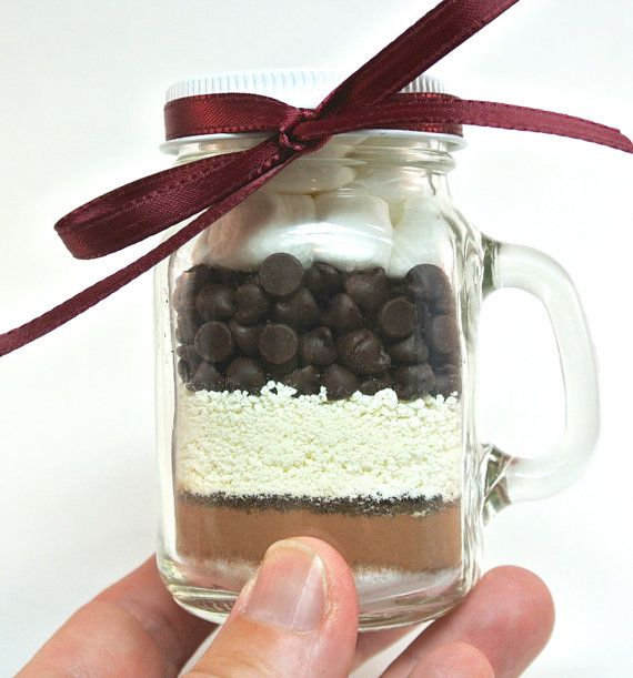 Mini Mocha Hot Chocolate 4 oz Mason Jar Mug Hot Cocoa Mix by trio3, $7.50