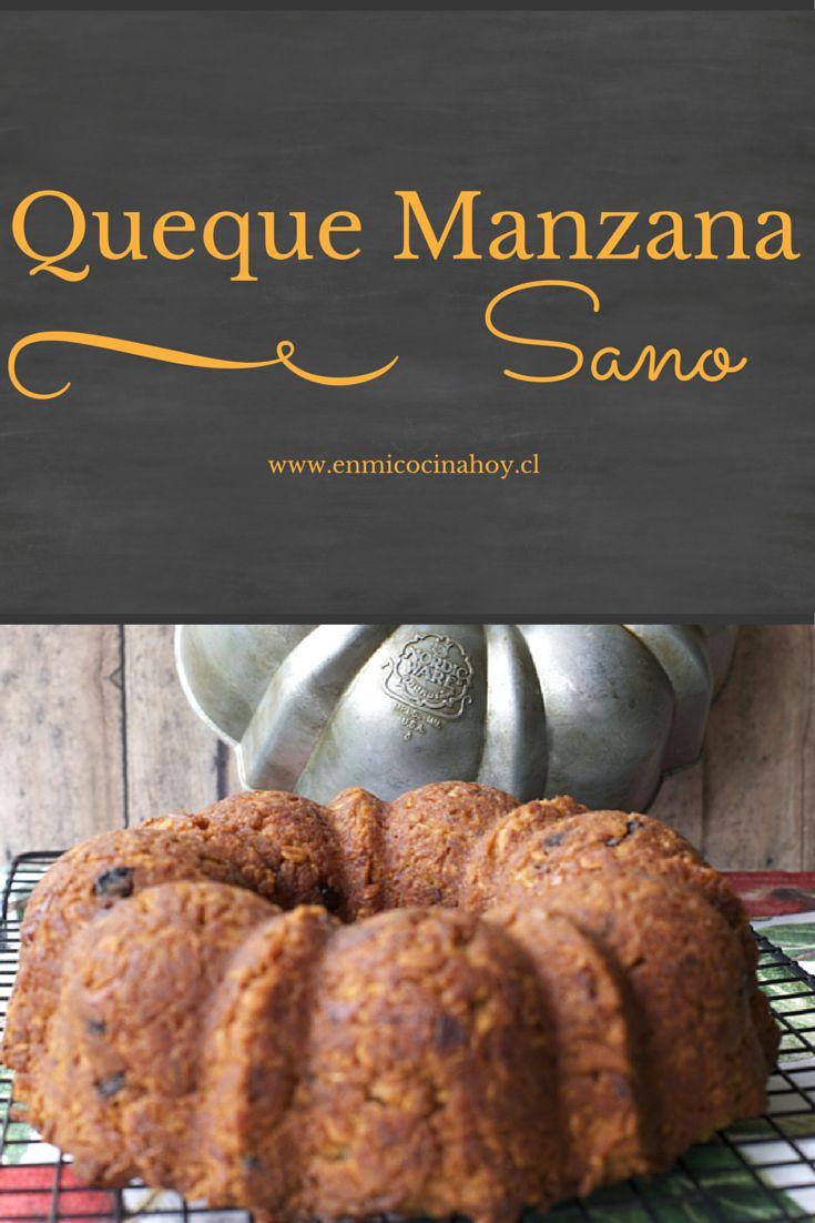 Un delicioso y esponjoso queque de manzana sano, sin huevos y con avena. Te va a encantar su sabor y textura.