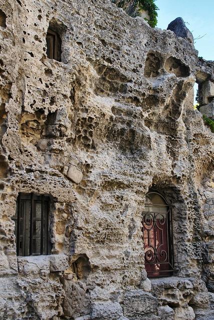 Windows in the rock - Les-Baux-de-Provence, Bouches-du-Rhône,  By . SantiMB