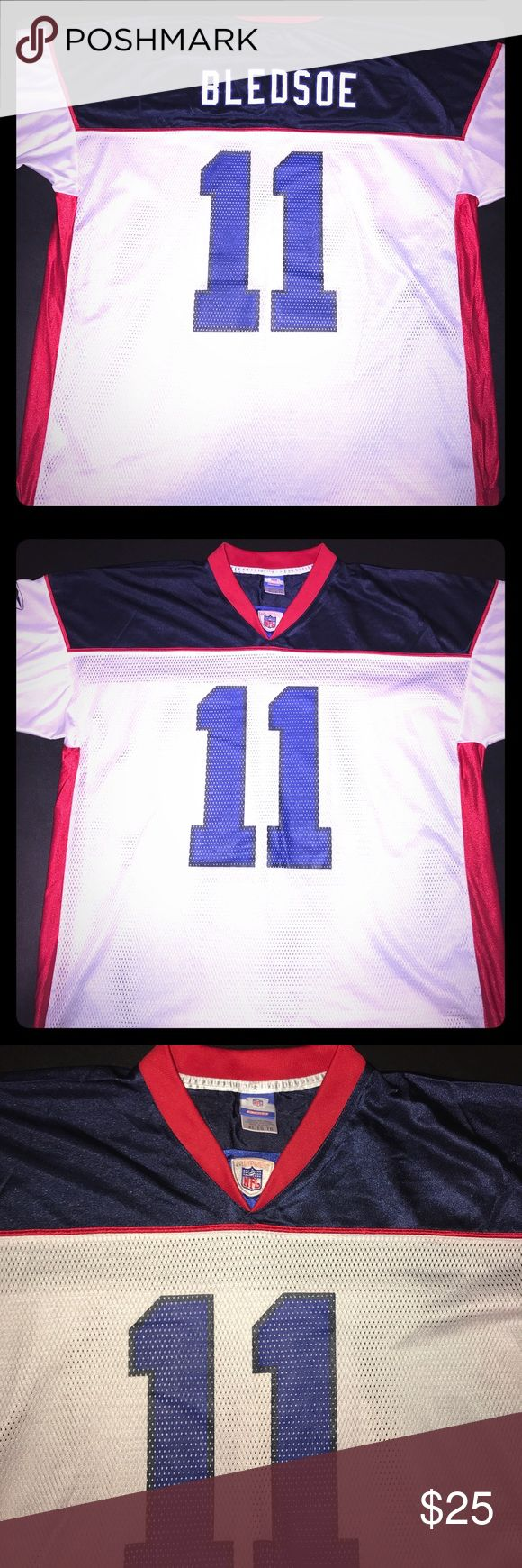 NFL Buffalo Bills Drew Bledsoe Reebok Jersey For sale is a NFL Buffalo Bills Drew Bledsoe #11 Reebok Jersey. Sized XL and in excellent condition. See photos for additional information or details. Feel free to contact with any questions. Reebok Shirts Tees - Short Sleeve