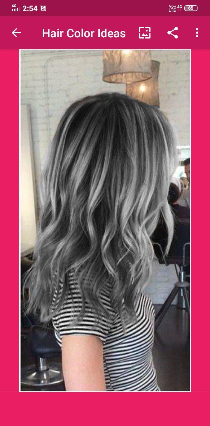 Pin By Alia Maisarah On Hair Girl In 2020 Hair Styles Grey Hair Color Gray Hair Highlights