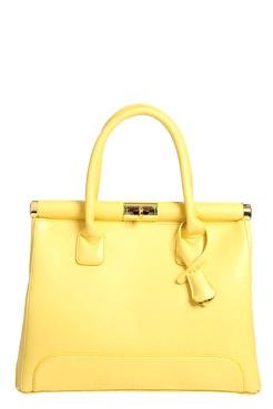 Alia PU Twist Lock Grab Bag in Yellow at BooHoo (boohoo.com)