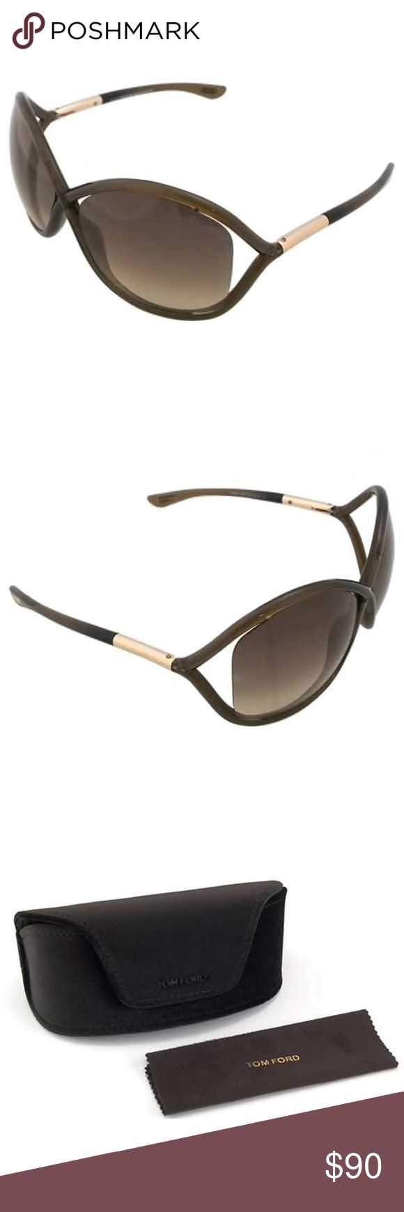 Tom Ford Whitney Sunglasses Tom Ford Whitney Sunglasses Authentic Worn only a few times; like new condition Frames are dark olive green slate gray color Case included Tom Ford Accessories Sunglasses
