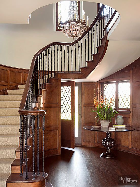 Some day I hope to have enough money to have a staircase like this.  Wow.