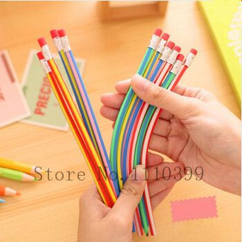 4PCS/lot Colorful Magic Bendy Flexible Soft Pencil With Eraser For Kids Writing Gift Student School Office Use lapis de cor #clothing,#shoes,#jewelry,#women,#men,#hats,#watches,#belts,#fashion,#style