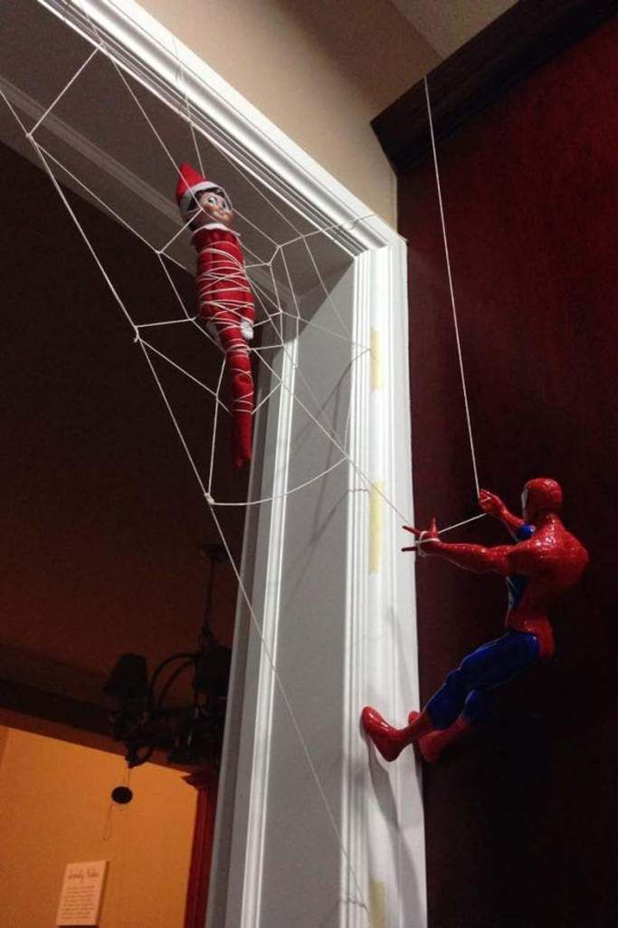 Other elf can be spiderman with small spiderman paper mask