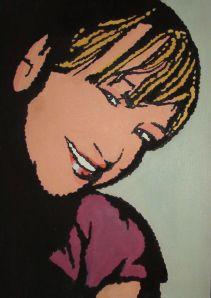 Retrato Pop-Art Óleo sobre lienzo 35 cm * 25 cm Dic-2013