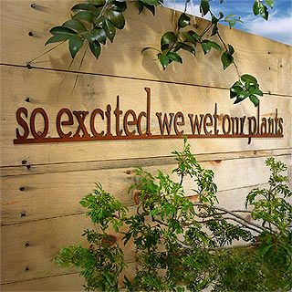 So Excited We Wet Our Plants Rusty Garden Sign