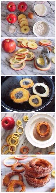 Cinnamon Apple Rings!! Yumm!