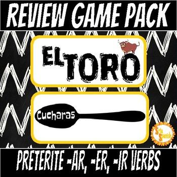 TWO games to review verb forms with your students! Students try and collect all the forms of a verb before the other players in a fast-paced trading game. The first person to collect all the forms of the verb wins! The vosotros form is included, but if that isn't something you use with your students there is a second set without vosotros!