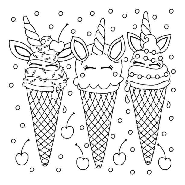 10 Easy Unicorn Sundae Coloring Pages Coloring Page Dinosaurus