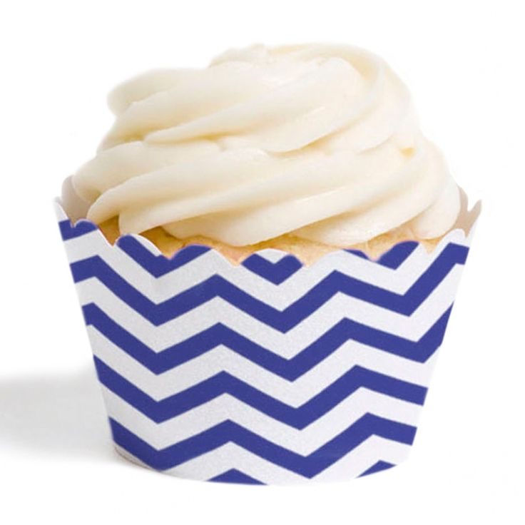 Royal Blue Chevron Cupcake Wrappers, 12-pack [DMC97900] : Cupcake Wrappers, Wholesale Cupcake Wrappers, Custom Cupcake Wrappers, Personalized Cupcake Wrappers, Cupcake Liners