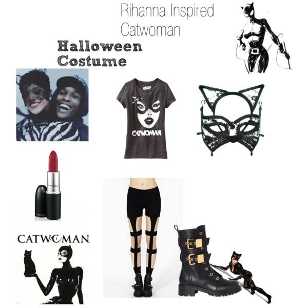"""""""Rihanna Inspired Catwoman Halloween Costume"""" by artistahop on Polyvore"""