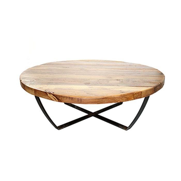 mesa de centro redonda madera