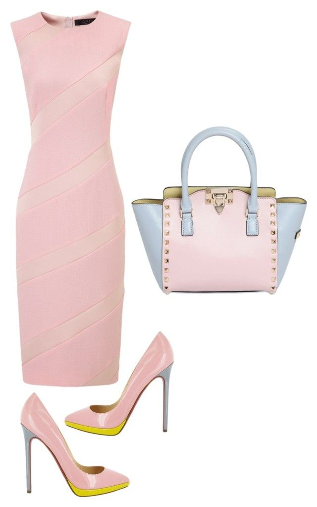 """Untitled #194"" by citygirlmanhattan ❤ liked on Polyvore featuring Giles, Christian Louboutin and Valentino"