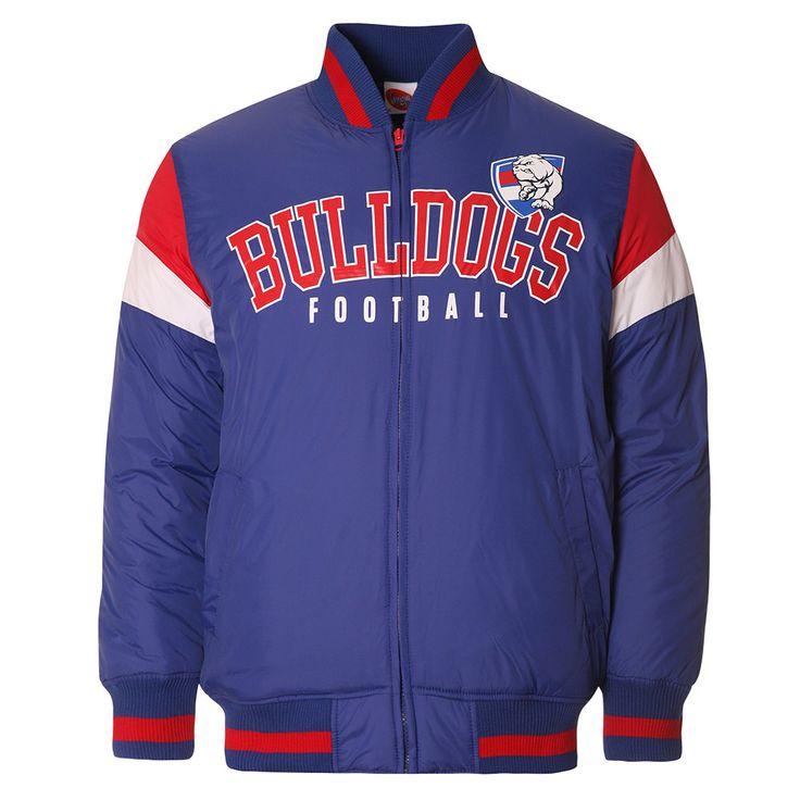 AFL Mens Fan Varsity Jacket Western Bulldogs