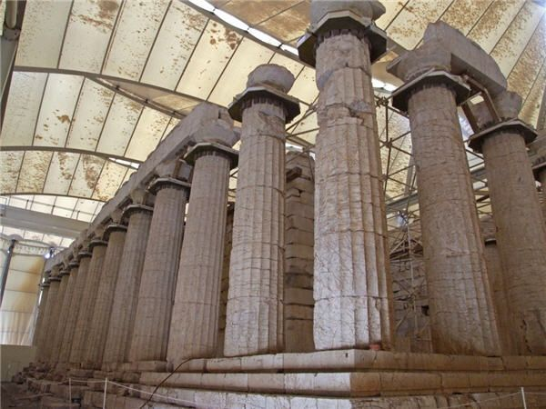 The Temple of Apollo Epicurius at Bassae (80 km north of Kalamata)