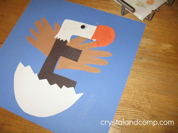 e is for eagle a letter of the week preschool craft
