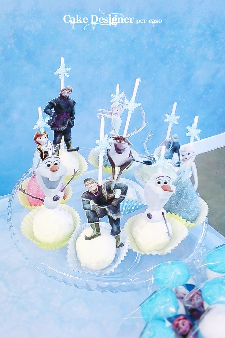 Cake Designer per caso [Olaf & Friends Cake pops]
