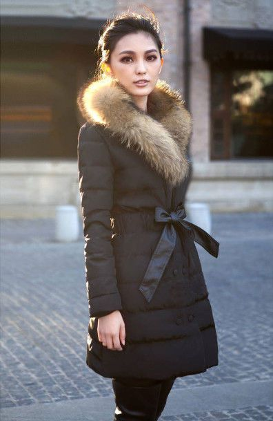 New Womens Winter Coat Double Breasted Raccoon Fur Collar Warm Down Jacket  #Unbranded #Puffer