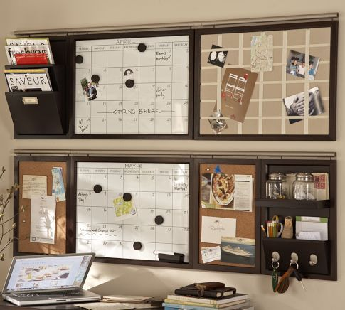 My kind of organization!Kitchens, Ideas, Potterybarn, Command Centers, Wall Organic, The Offices, Organic Stations, Home Offices Organic, Pottery Barns