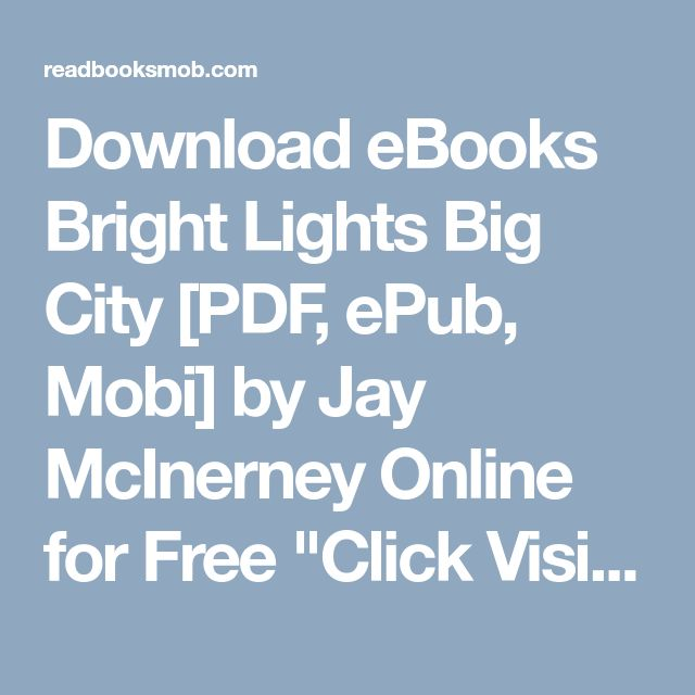 49 best my books images on pinterest download ebooks bright lights big city pdf epub mobi by jay mcinerney fandeluxe Choice Image