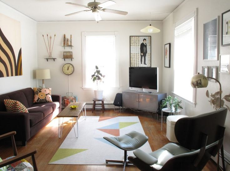 When And How To Place Your TV In The Corner Of A Room Eclectic Living RoomSmall