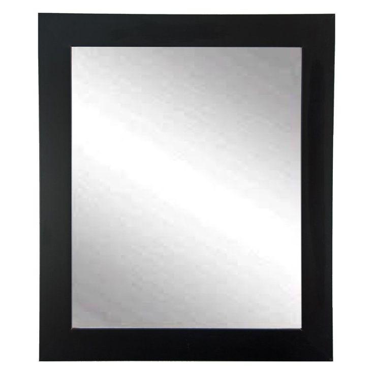 BrandtWorks Designers Choice Classic Wall Mirror - Matte Black - BM002M2