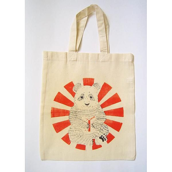 tote bag, panda, enfants, petit tote bag