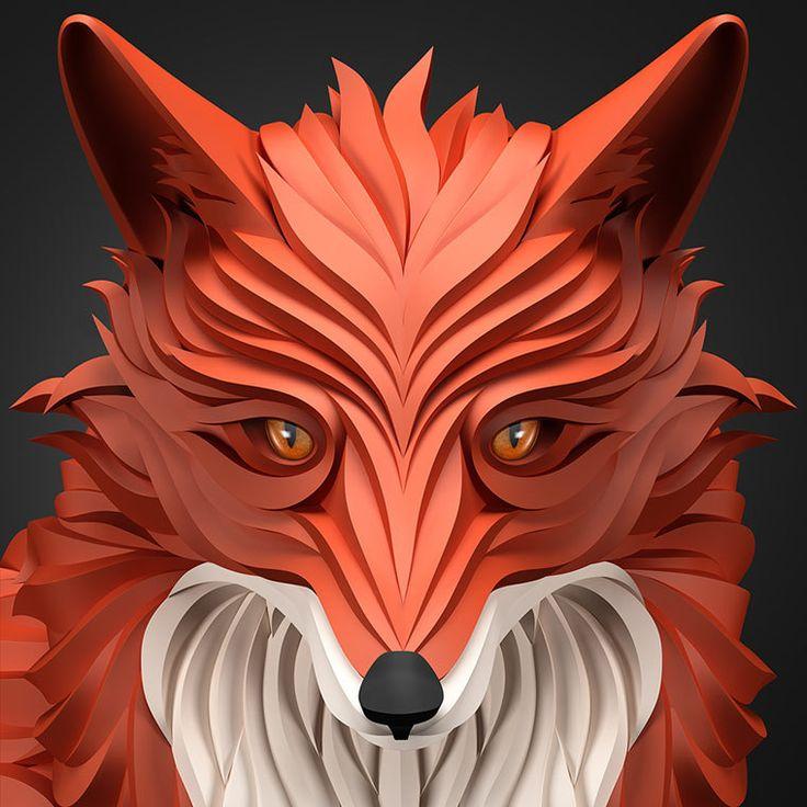 #maxim_shkret #illustration #illustrator #illustration_3d #fox #russian #deer #skull #moscow #russian_federation #noipic