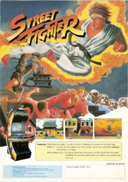 North American arcade flyer of Street Fighter.