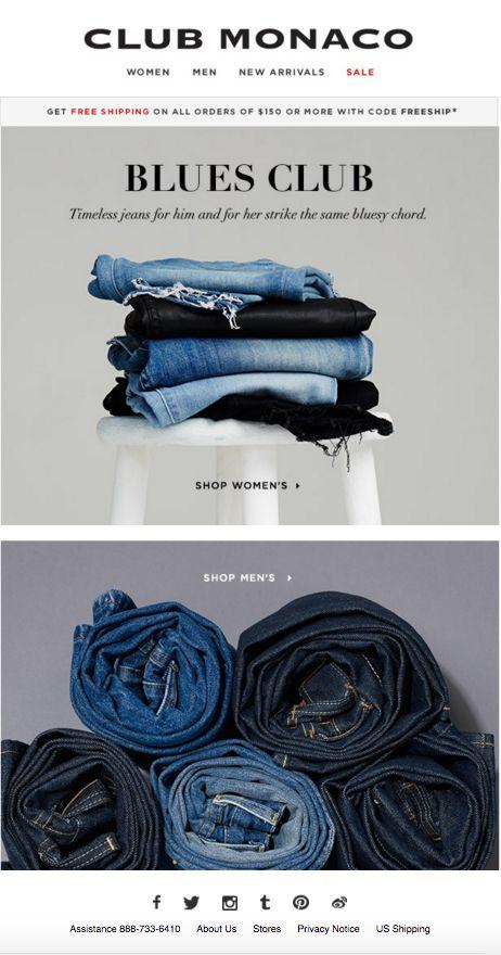 Club Monaco - Blue Jeans