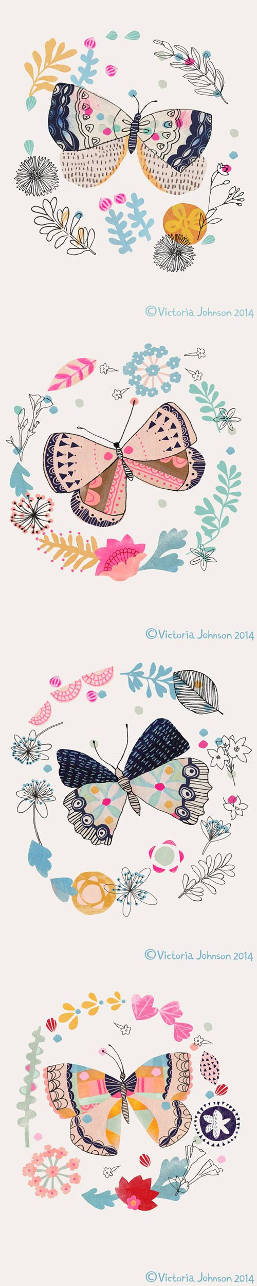 butterfly tall pin