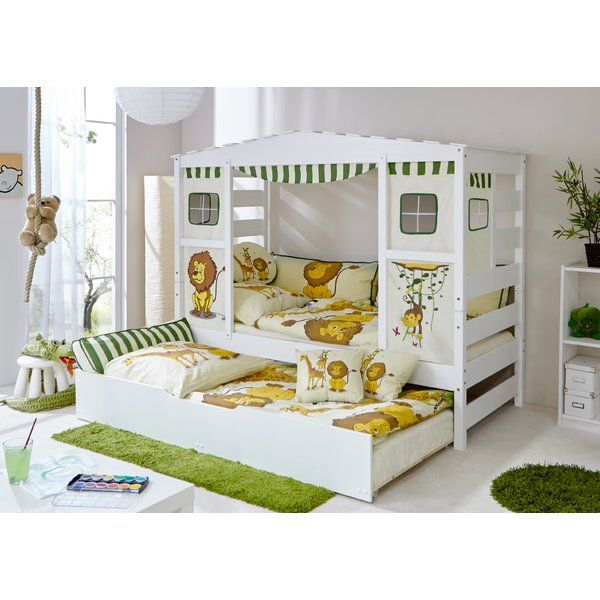 Bett Josefa Mit Vorhang Und Ausziehbett 90 X 200 Cm Kinder Bett