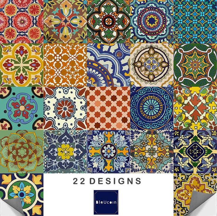 Best Bleucoin No 21 Mexican Talavera Tile Wall Stair Floor Peel 400 x 300