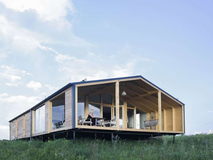 one of the coolest most affordable prefab homes we know is the dubldom a series of simple gabled modern cabins range from a tiny studio to a