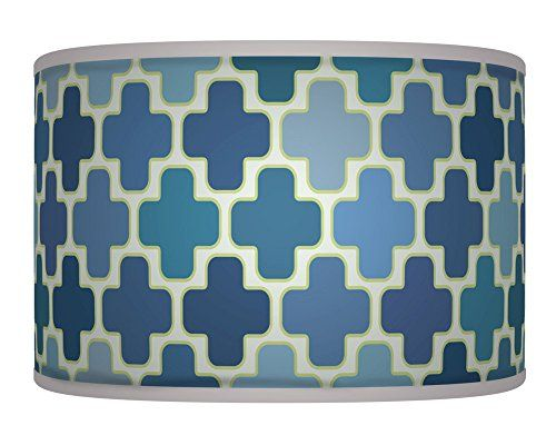 71 best lamp shades images on pinterest lamp shades lampshades blue white retro handmade geometric giclee style printed fabric lamp drum lampshade or ceiling pendant light shade 257 mozeypictures Gallery