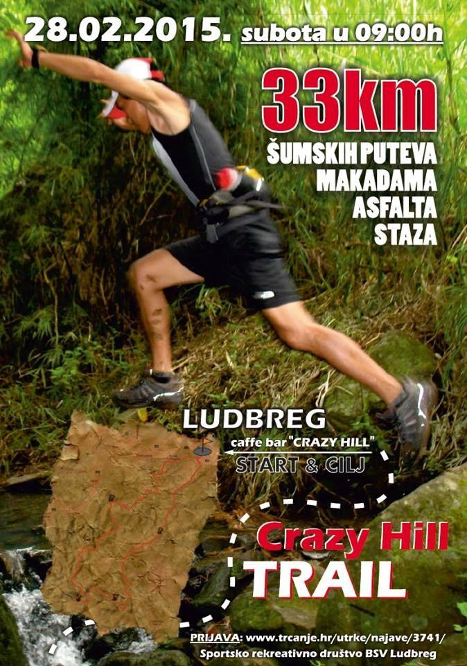 Športsko rekreativno društvo BSV Ludbreg organizira Crazy Hill Trail 2015 utrku koja povezuje najljepše predjele ludbreških brežuljaka i sjeveroistočne dijelove kalničkog gorja. Utrka počinje i završava u Ludbregu, a natjecatelje vodi preko otoka Mladosti, Ludbreških Vinograda, kroz šume sve do Gabr ...
