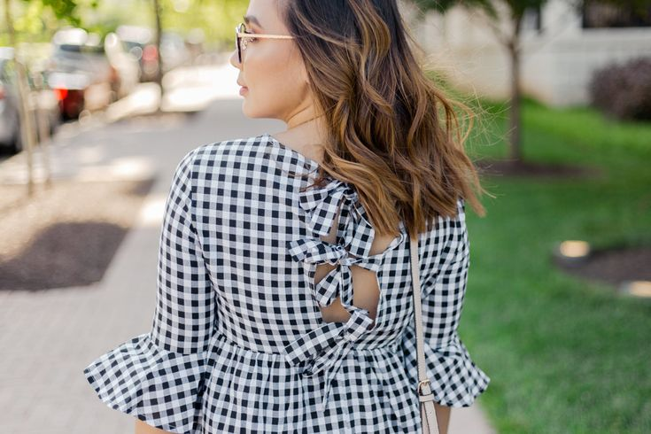"""Gingham Style Like with the tassel/pompom trend I am a little late to the gingham party as well since my Instagram feed right now is telling me I need stripes (and we'll get to that later). But this is what my grandma used to say:""""it'sbetter late than never"""" and so here we are! She used that phrase in the context of school but it still works for outifts and stuff! HAHA. Anyway if you want to see how I styled my cute gingham dress keep on scrolling. #Romwe GINGHAM STYLE This gingham dress is…"""