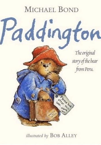 This was T favorite bear and cartoon as a little guy.   Paddington Bear, Michael Bond