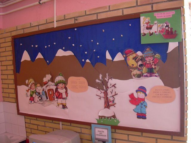 Mural de invierno2 invierno pinterest murales for Arts and crafts mural