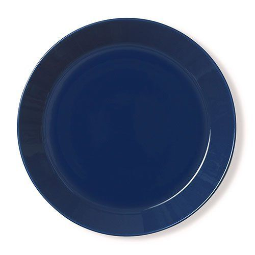 """iittala Teema Dinner Plate - Blue by Finnstyle. $24.00. Care: Freezer, microwave oven, and dishwasher safe. Measurements: 1-3/8"""" tall x 10-1/4"""" in diameter (3.5 x 26 cm). Porcelain. Price is for one plate. An undisputed classic Scandinavian dinnerware, Teema is celebrated for its innovation, function, durability and beauty. Designed by Kaj Franck in 1952, Teema remains a practical and versatile dinnerware that complements the entire range of iittala dinnerware and glas..."""