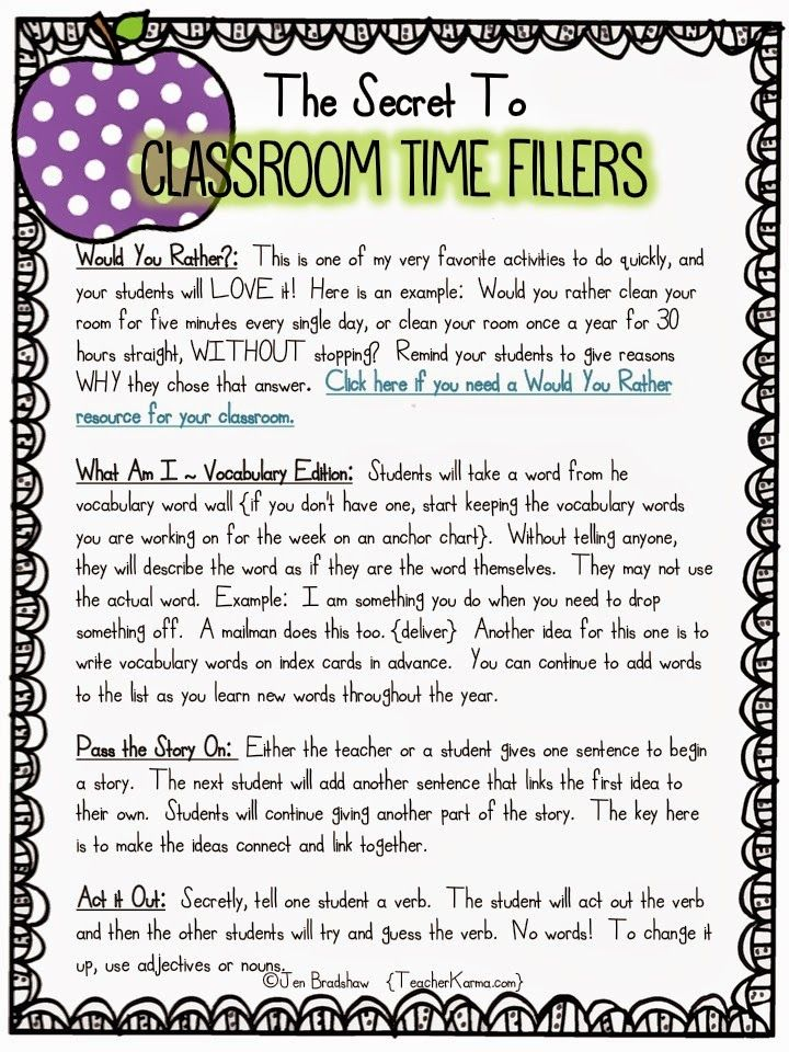 7 best teaching images on pinterest school spanish classroom and activities for filling wasted time in the classroom teacherkarma fandeluxe Images