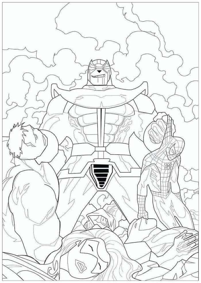 Avengers Vs Thanos Coloring Pages Superhero Coloring Pages Superhero Coloring Avengers Coloring