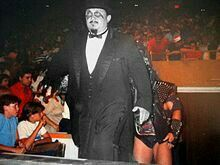 Harry Fujiwara(May 4, 1934 – August 28, 2016) was an Americanprofessional wrestlerandmanager, best known by hisring nameMr. Fuji.He was infamous for often throwing salt in the eyes offace wrestlers. Although he was billed as Japanese, he was a Japanese Americanborn in Hawaii.