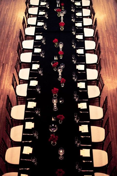 58 Elegant Black And White Wedding Table Settings | HappyWedd.com Part 68