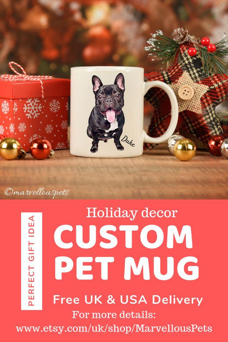 Custom frenchie dog mom mug, pet lover coffee mug, gift