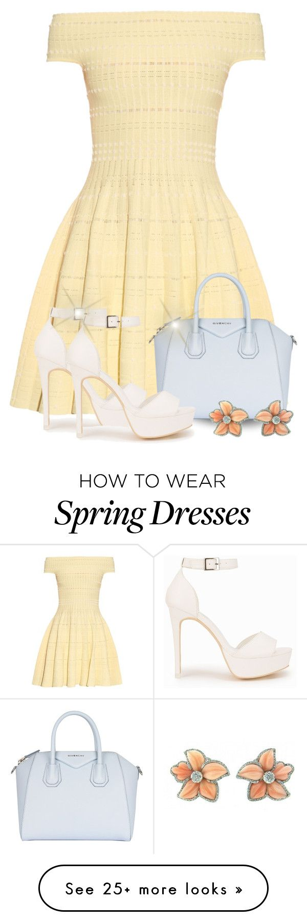 """Spring Dress"" by majezy on Polyvore featuring Alexander McQueen, Givenchy and Nly Shoes"