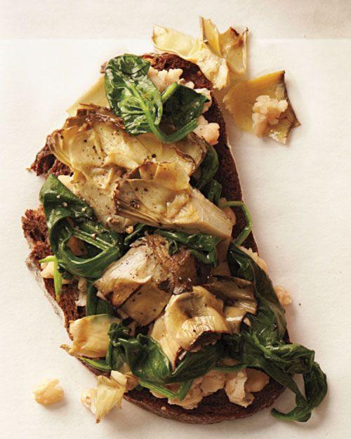 Artichoke and White Bean Sandwich #vegan