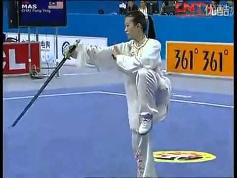 2010 ASIAN GAMES- Taiji Wushu Jian (Sword)- CHAI FONG YING